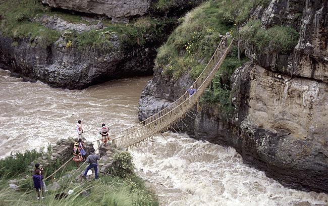 Qu'eswachaka Hängebrücke