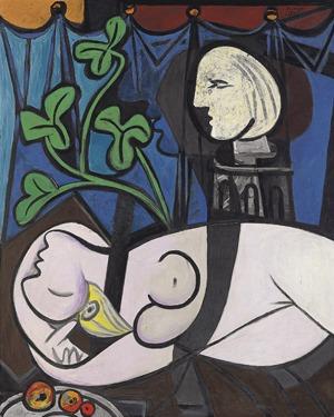 7. Akt mit grünen Blättern und Büste - Pablo Picasso