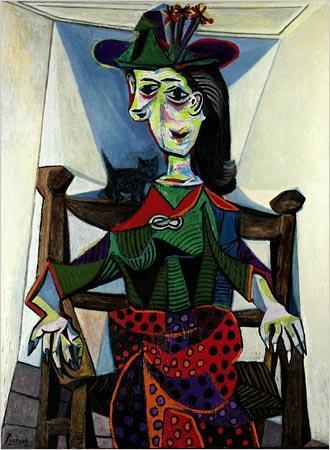 9. Dora Maar mit Katze - Pablo Picasso