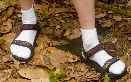 2. Socken in Sandalen